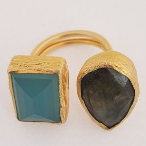 14kt.gold Vermeil 925 semi-precious ring